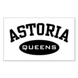 Astoria Queens Rectangle Decal