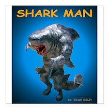 "Chace Lobleys Shark man. Square Car Magnet 3"""
