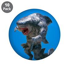 """Chace Lobleys Shark man. 3.5"""" Button (10 pack"""