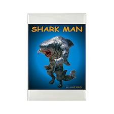 Chace Lobleys Shark man. Rectangle Magnet (100 pac