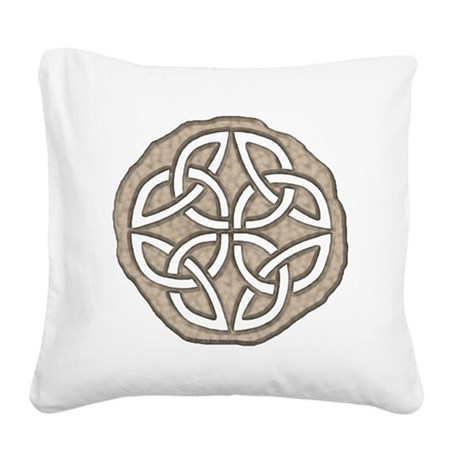 Celtic Knotwork Coin Square Canvas Pillow