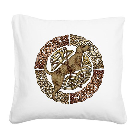 Celtic Dog Square Canvas Pillow