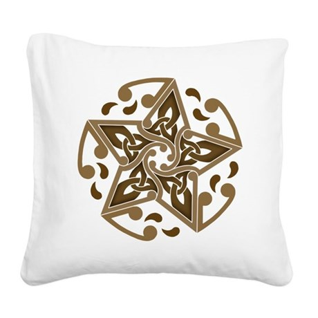 Celtic Star Square Canvas Pillow
