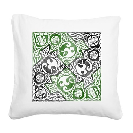 Celtic Knotwork Puzzle Square Square Canvas Pillow