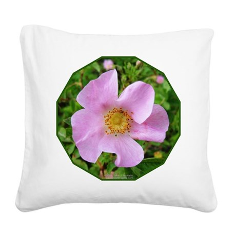 California Wild Rose Square Canvas Pillow