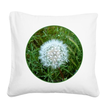 Dandelion Seed Head Square Canvas Pillow