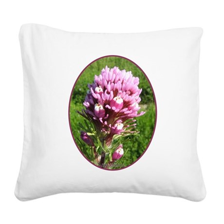 Purple Owls Clover Square Canvas Pillow