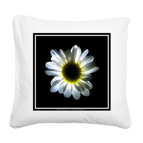 Illuminated Daisy Square Canvas Pillow