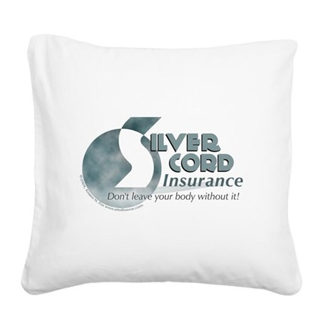 Silver Cord Insurance Square Canvas Pillow