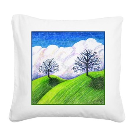 California Spring Square Canvas Pillow