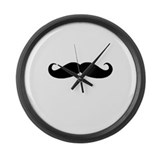 Movember Moustache Large Wall Clock