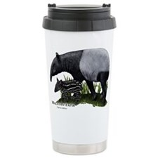 Malayan Tapir and Young Ceramic Travel Mug