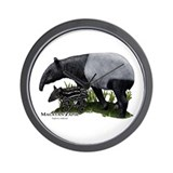Malayan Tapir and Young Wall Clock