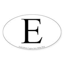 Earth Sticker 2 (Oval)