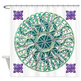 Sun Flower of Life Shower Curtain