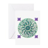 Sun Flower of Life Greeting Card