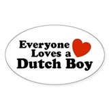Everyone Loves a Dutch Boy Oval Decal