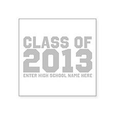 "2013 Graduation Square Sticker 3"" x 3"""