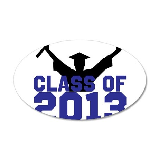 2013 Graduation 35x21 Oval Wall Decal