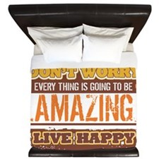 Don't Worry, Live Happy King Duvet