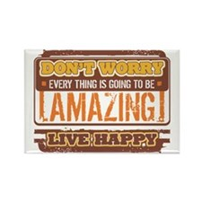 Don't Worry, Live Happy Rectangle Magnet