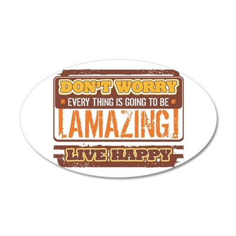Don't Worry, Live Happy 20x12 Oval Wall Decal