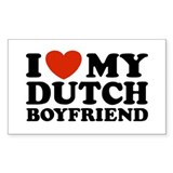 I Love My Dutch Boyfriend Rectangle Decal