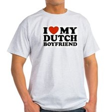 I Love My Dutch Boyfriend Ash Grey T-Shirt