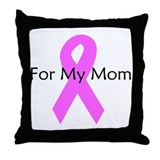 Pink ribbon for my mom Throw Pillow