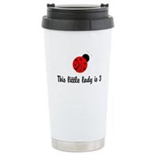 Third Birthday Ladybug Ceramic Travel Mug