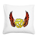 Red Winged 45 RPM Adap Square Canvas Pillow