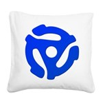 Blue 45 RPM Adapter Square Canvas Pillow