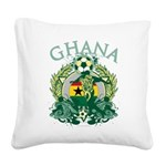Ghana Soccer Square Canvas Pillow