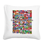 Let the Games Begin Square Canvas Pillow