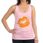 Big Orange Lips Racerback Tank Top