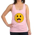 Smiley Face - Tongue Out Racerback Tank Top