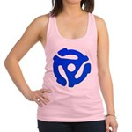 Blue 45 RPM Adapter Racerback Tank Top