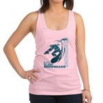 Eat Sleep Snowboard Racerback Tank Top