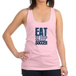 EAT SLEEP SOCCER Racerback Tank Top