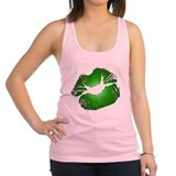 Green Irish Kiss Racerback Tank Top