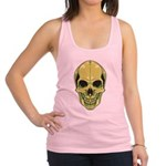 Green Skull Racerback Tank Top