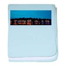 Boathouse Row, Nighttime Panoramic baby blanket