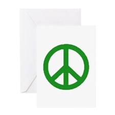 Green Peace sign Greeting Card