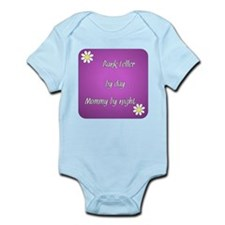 Bank Teller by day Mommy by night Infant Bodysuit