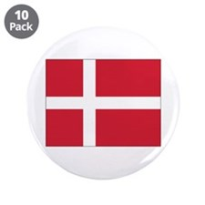 "Denmark Flag 3.5"" Button (10 pack)"