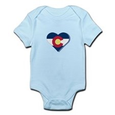 Colorado Flag Heart Infant Bodysuit