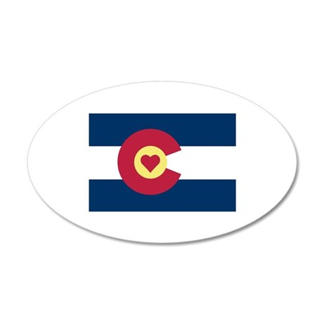 I Love Colorado 35x21 Oval Wall Decal