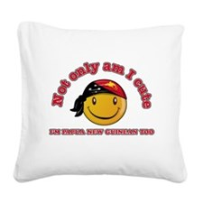 Cute and Papua New Guineas Square Canvas Pillow