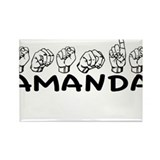 ASL Amanda Rectangle Magnet
