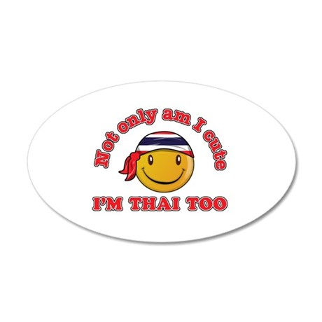 Cute and Thai 20x12 Oval Wall Decal